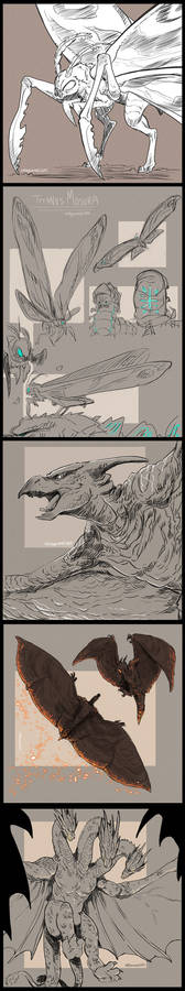 Monsterverse Creature Sketches
