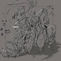 Gijinka - Godzilla Junior VS Destroyah