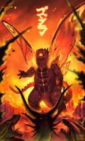 Commission  - Burning Godzilla