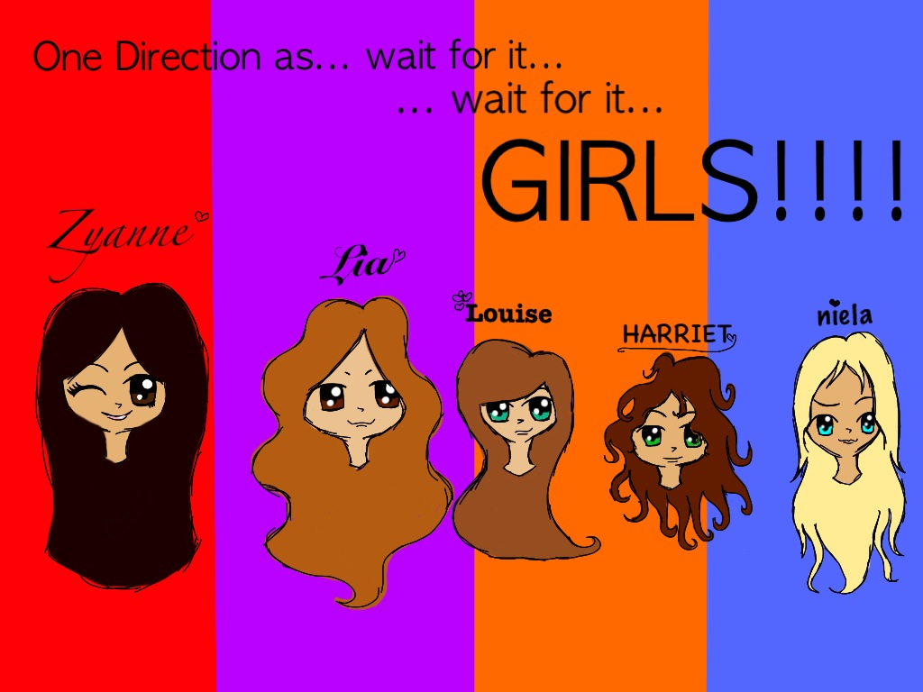 ONE DIRECTION AS GIRLS!!! by Chenae00