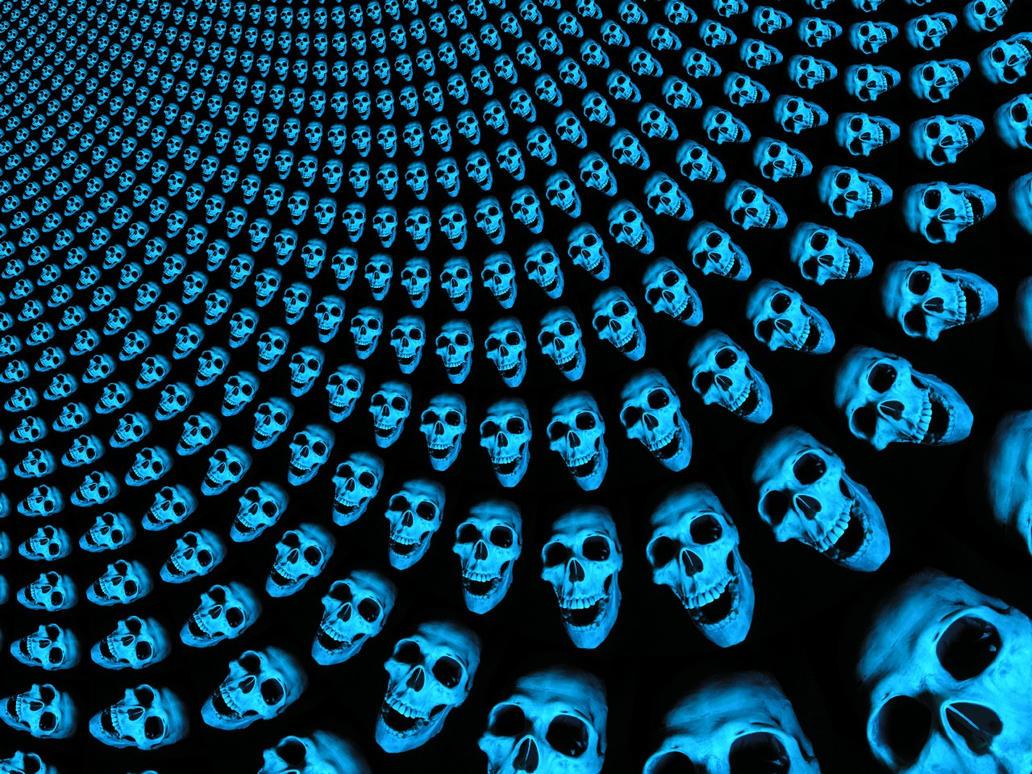 skull wave by mumblyjoe