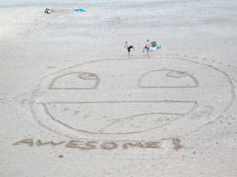 AWESOME SMILEY at VA beach by Jafoob