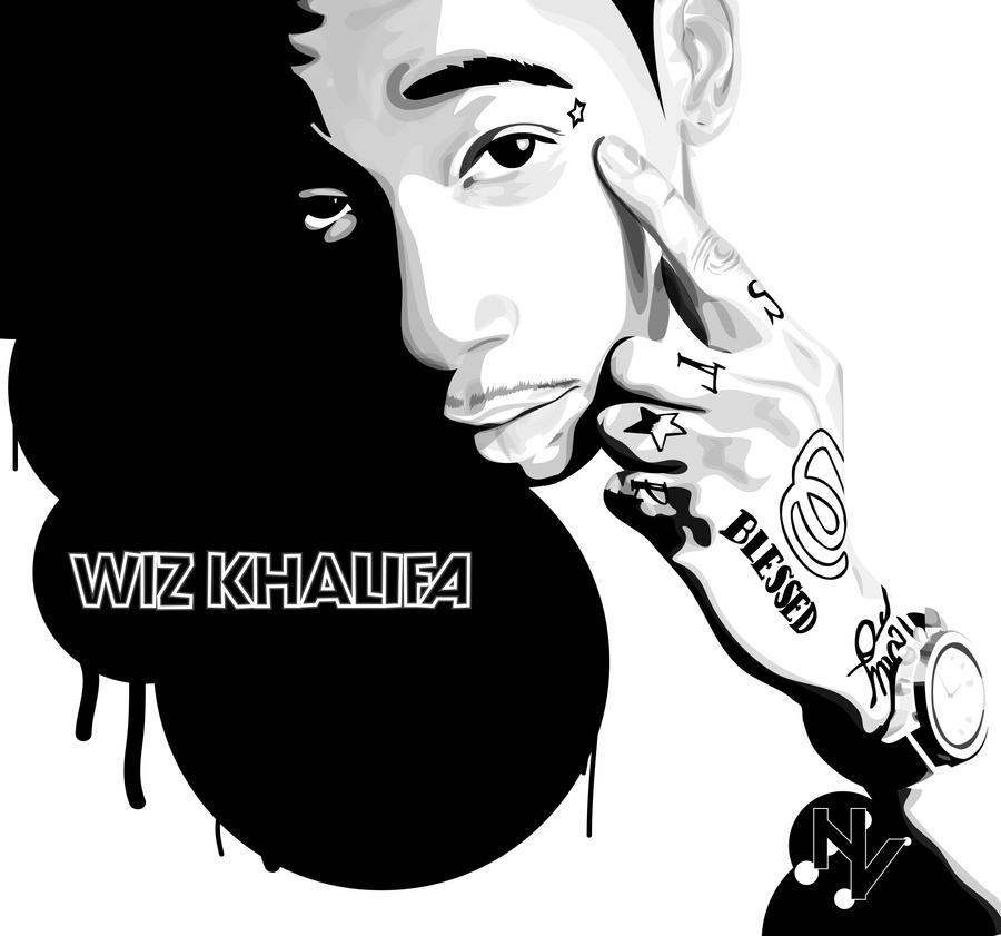 wiz khalifa smoking weed drawing