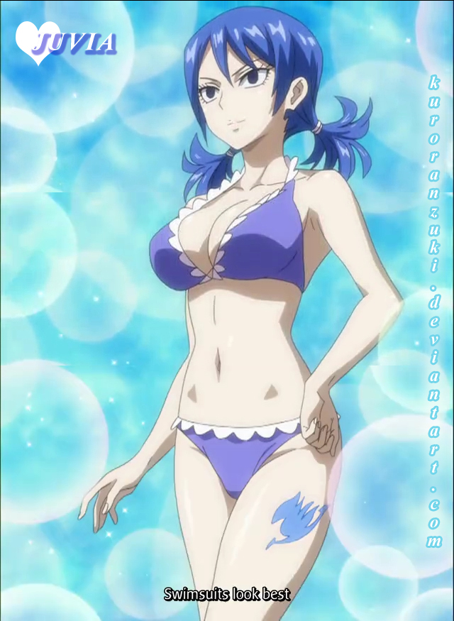 Fairy Tail doocle edit - juvia swimsuit epi 163 by Kuroranzuki