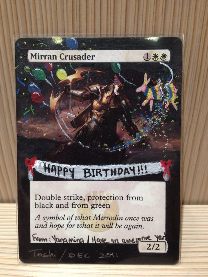 Magic the gathering birthday crusader alter by toshibishibashi on magic the gathering birthday crusader alter by toshibishibashi bookmarktalkfo Image collections