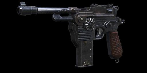 Diesel-punk Mauser C96 handgun by ComannderrX