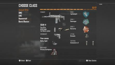 Call Of Duty Black Ops II Assault Rifle Class 3