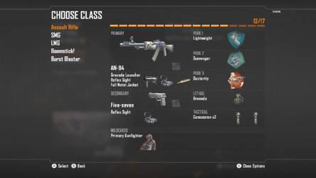 Call Of Duty Black ops II Assault Rifle Class 2