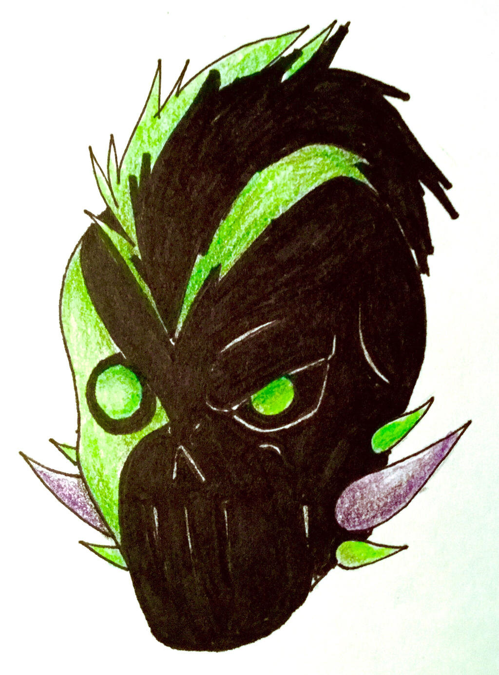My Oc Villain Mask By Bethanygamemaster On Deviantart