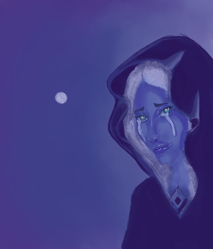 A thing i worked on the whole day. It looks very ...unpleasant. The character is blue diamond from steven universe. I do not own the character.