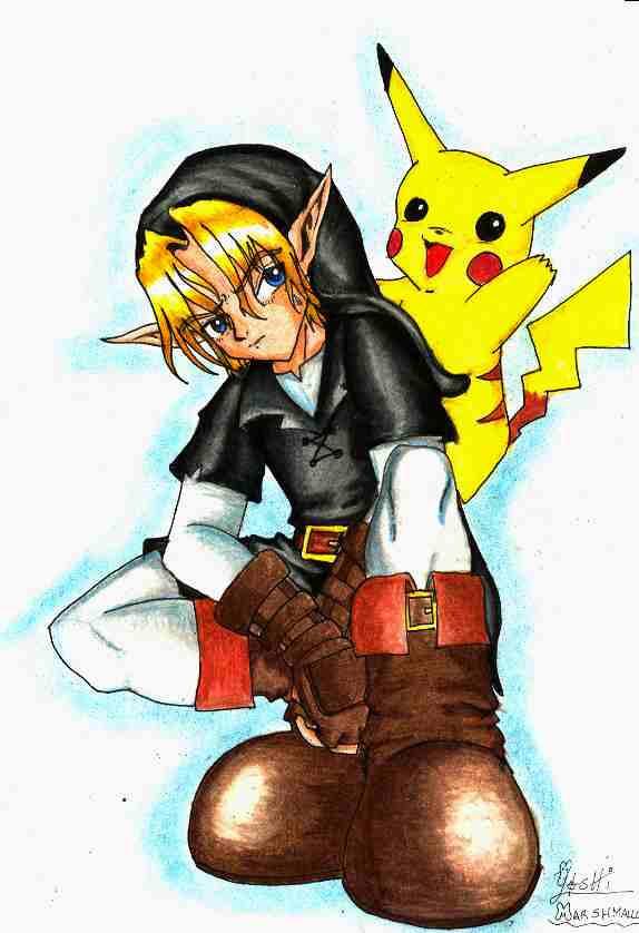 Dark Link + Pikachu by YoshiMarshmallow on DeviantArt