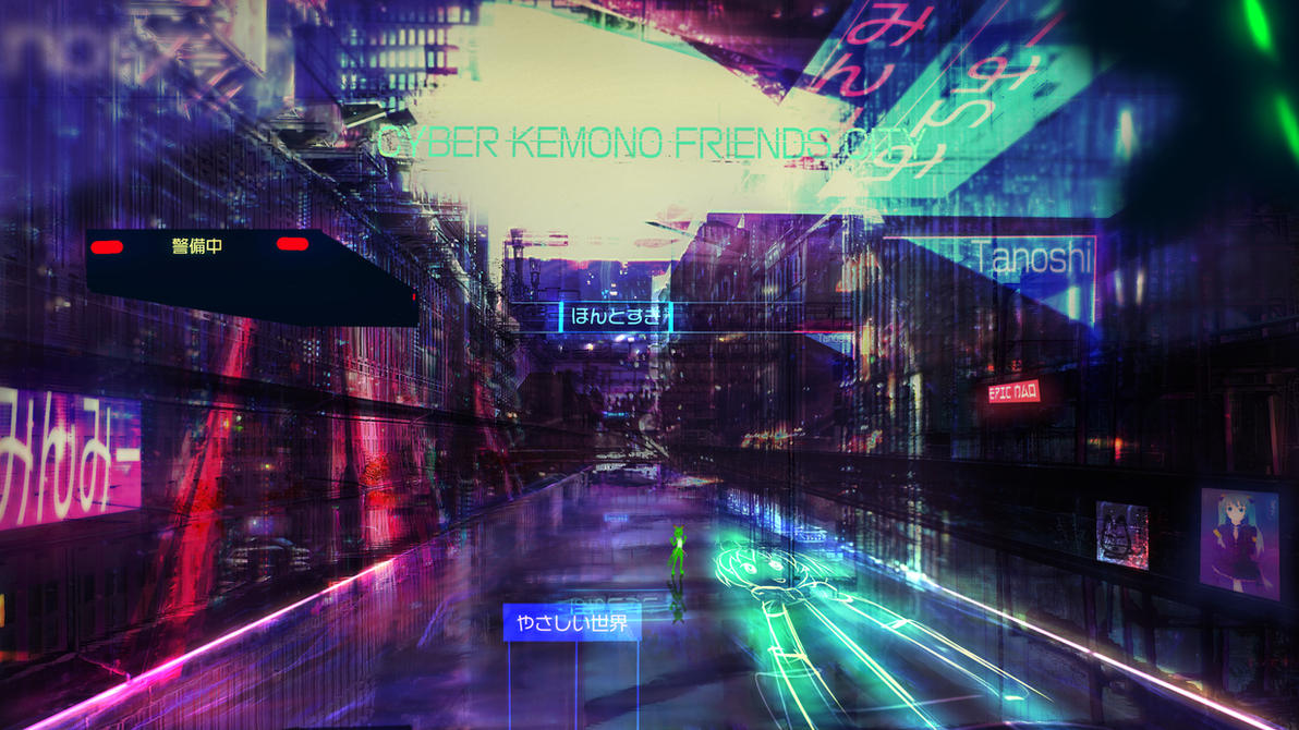 Cyber Kemono Friends City by Epic-Nao