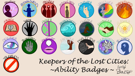 Keeper of the Lost Cities - Ability Badges by blazetailx
