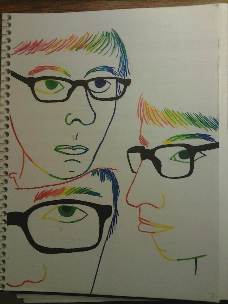 Contour Line Drawing Assignment : Contour line sketchbook assignment by davidfrasheski on