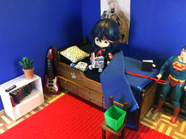 Ryuko Reads On Her Bed by Gairon