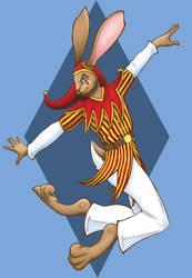 Jester Jackrabbit (Colored) by zoe1718