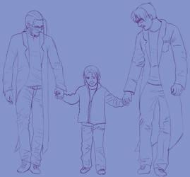 FFVII - Gast, Hojo, and Sephiroth