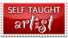 Stamp-SelfTaughtArtist by PVprojectResources