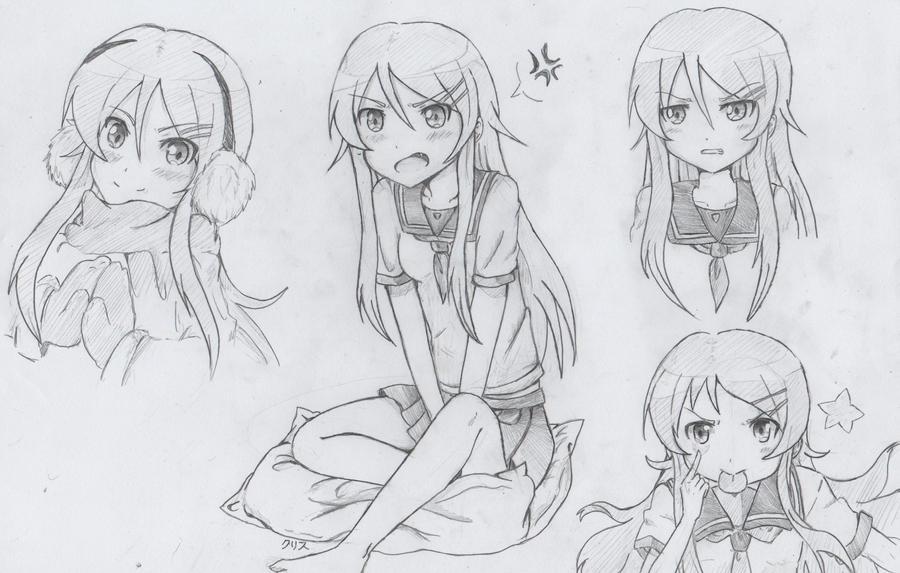 Kirino sketches by Kurysu