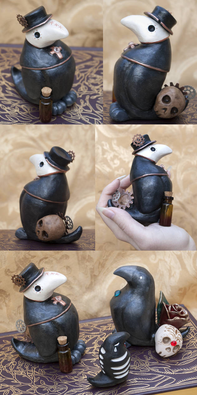 Plague Raven Figurine by Meiseki