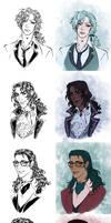 Love Bites Character Designs by Meiseki