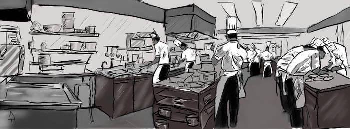 Cuisine professionelle (dessin)