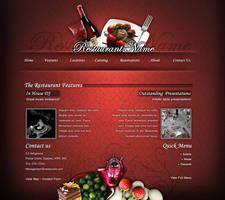 Flash Restaurant site sample by olivierxsessive