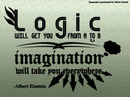 Typography - Imagination Quote by olivierxsessive