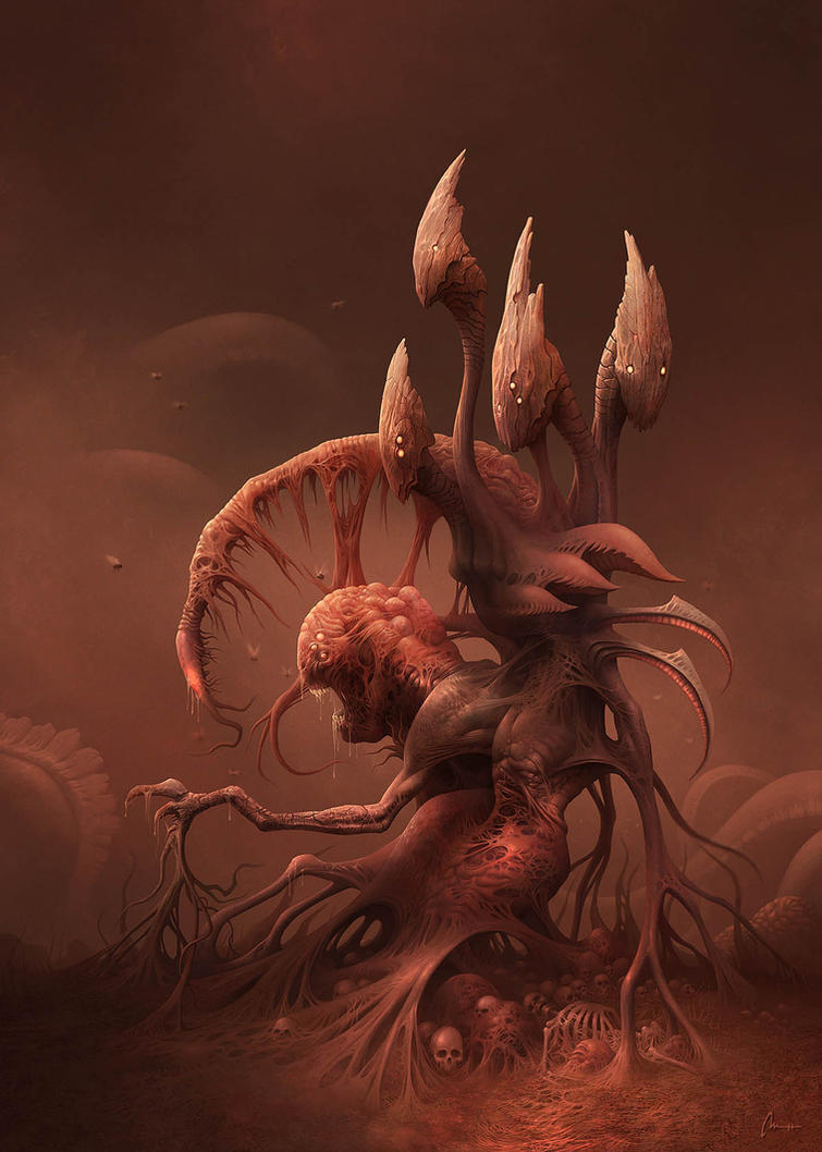 Hybrid monster from the Realms of Flesh by Dreamphaser