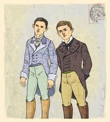 Boys as Onegin and Lenskiy by DiRoshRamovski