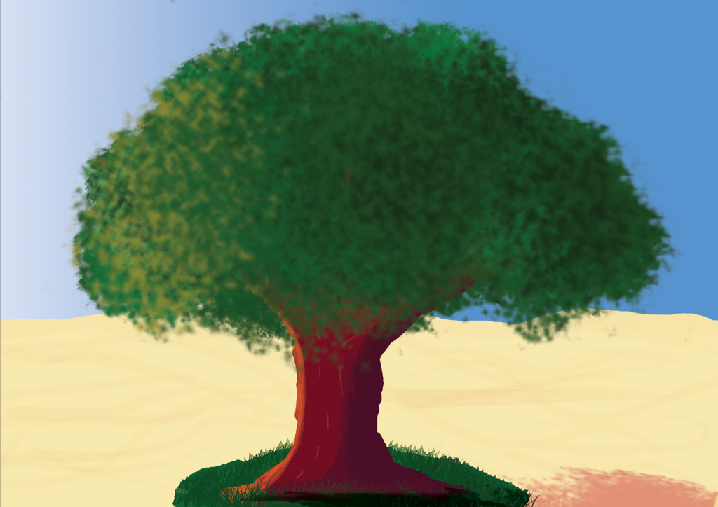 Digital art - Tree in the desert by Jacks-Gaming-Room
