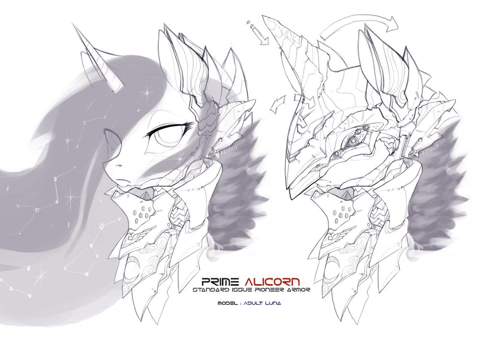 Prime Alicorn armor concept by Legacy350