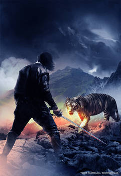 Man, steel and a tiger