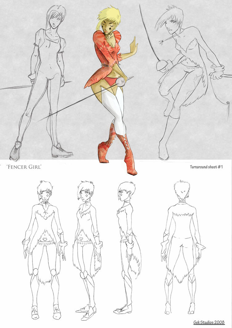 Fencer girl model sheets 2 by ShabbyChick