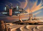 Guild Heighliner arriving to Arrakis