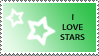 Star Stamp Green by cats-aint-waterproof