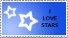 Star Stamp Blue by cats-aint-waterproof