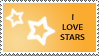 Star Stamp Orange by cats-aint-waterproof