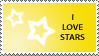 Star Stamp Yellow by cats-aint-waterproof