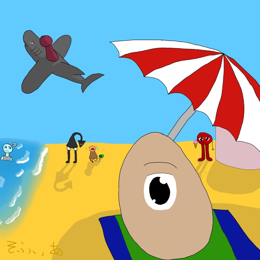 Beach Vacation (Art Fight 8) by RuetheFox