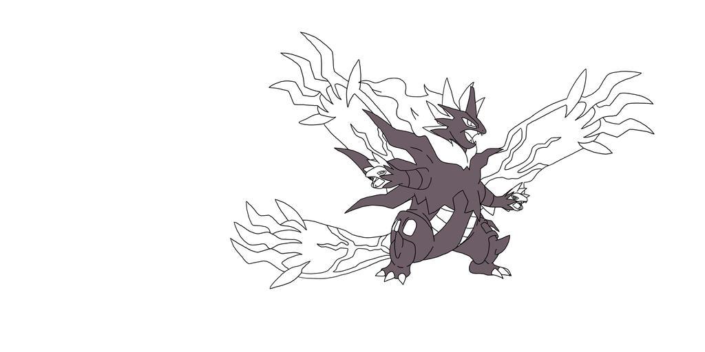 Lets fuse: Mega Tyranitar, Hydreigon and Yveltal by Kyuubidragon91