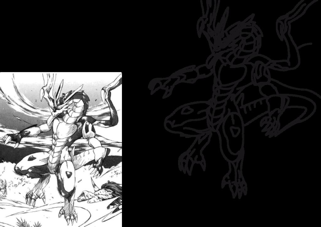 Line Art Dragon : Dragon drive manga senkoukura battle by kyuubidragon on deviantart