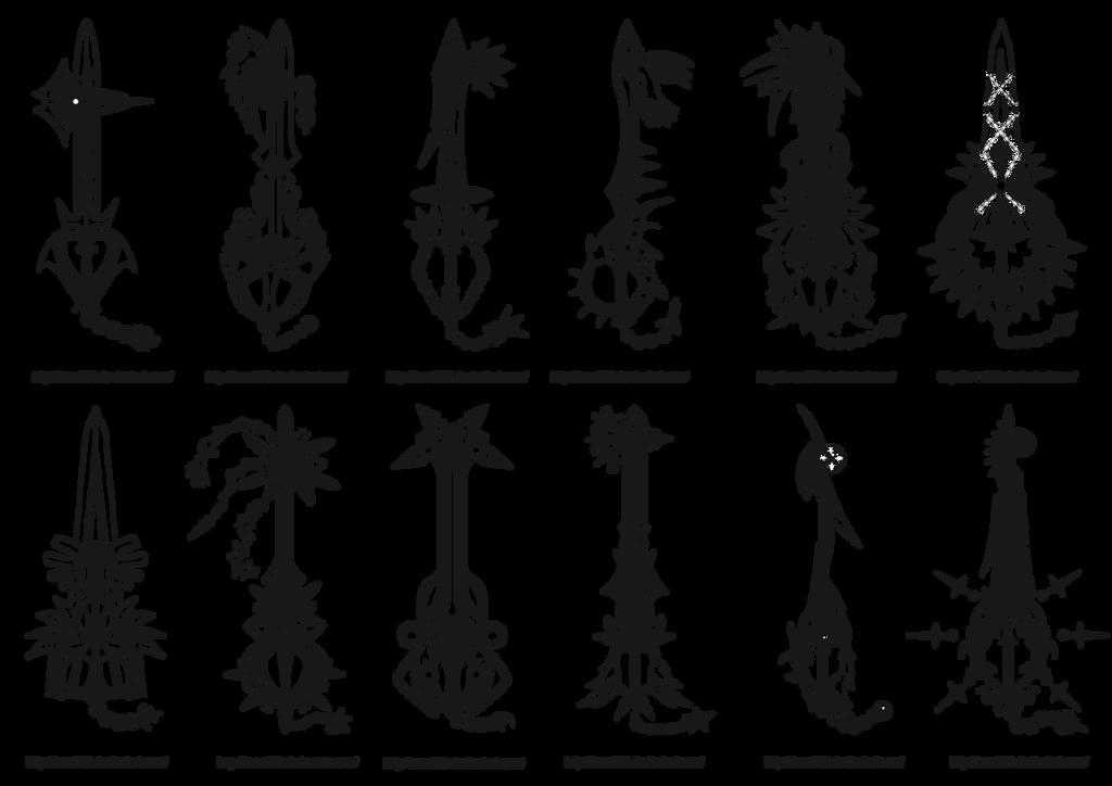 Keyblades Leon259 2 by Kyuubidragon91