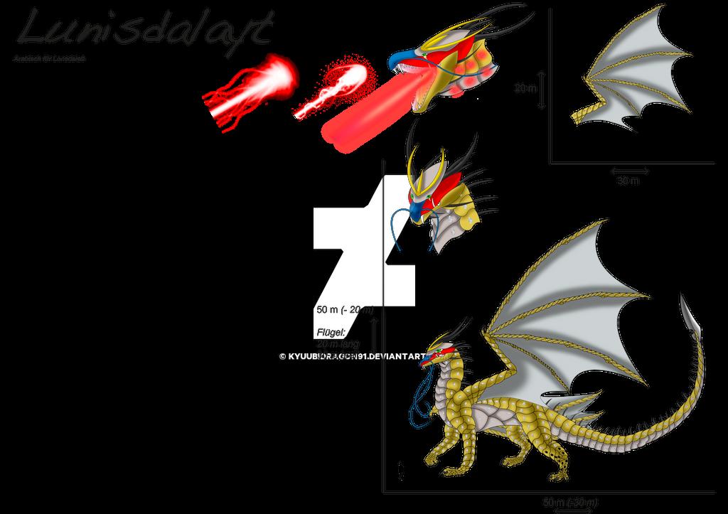 Golden Metalplate Dragoness Lunidalayt by Kyuubidragon91