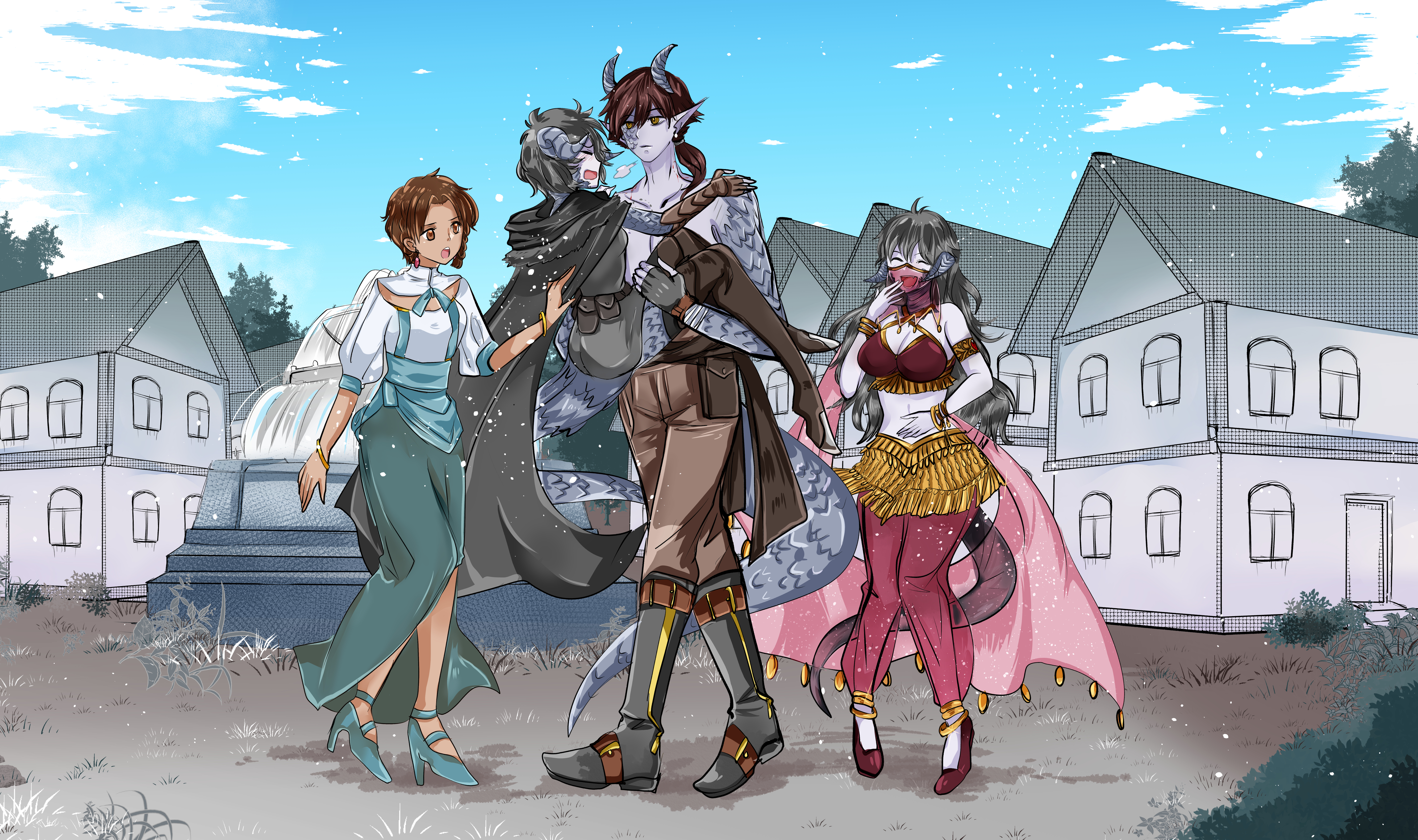 Commission by Toriichi : Nae and the crew