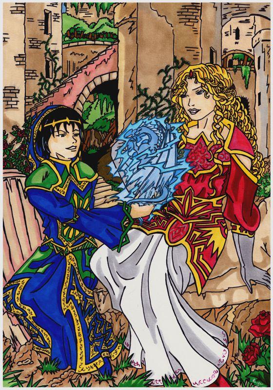 A young wizard evokes a dragon by Enoa79