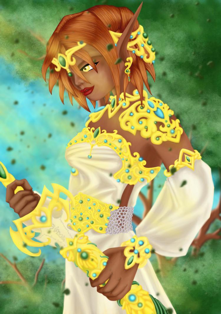 Elf warrior princess by Enoa79