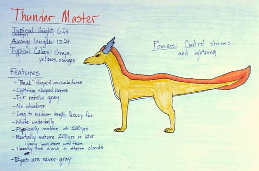 Thunder Master Species  [Open]