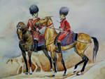 Golden horses of Turkmenistan