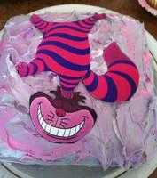 Cheshire Cat Cake by paranoiapanic